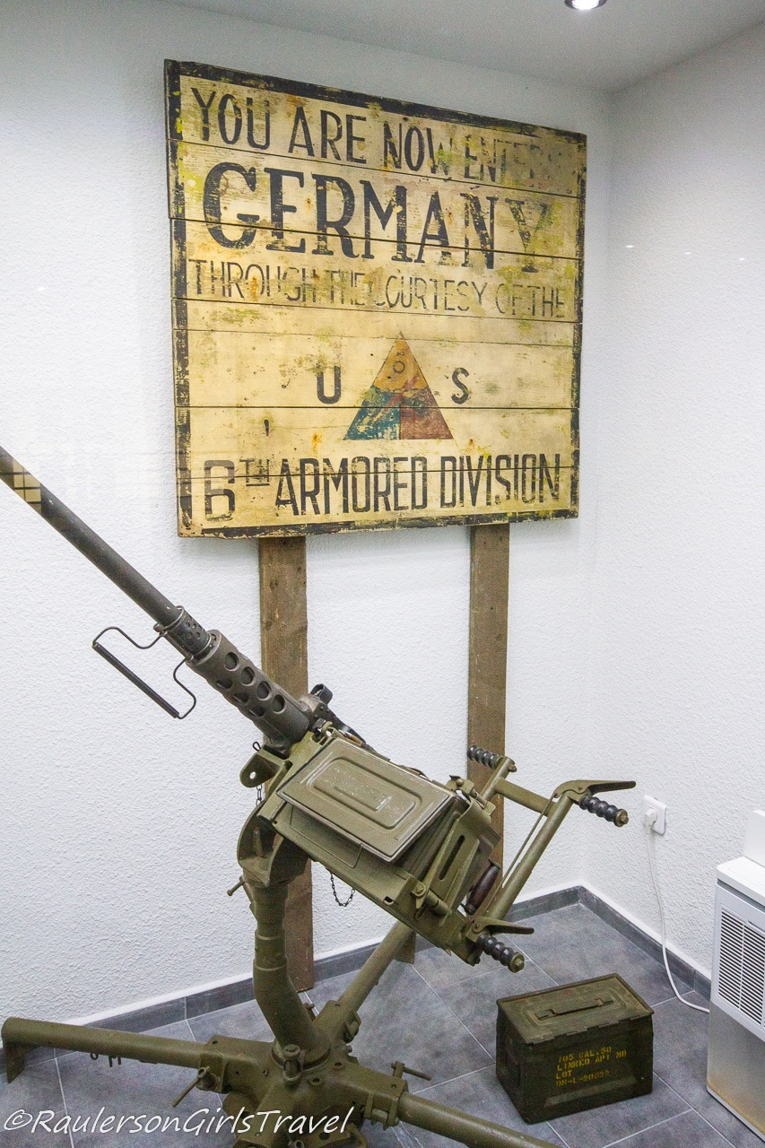 Germany sign with gun display