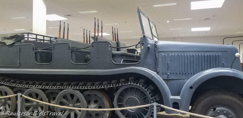 Large Military truck with rifles