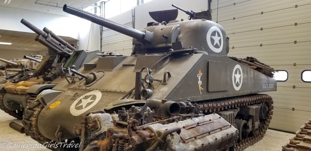 Tank with Girl painted on it