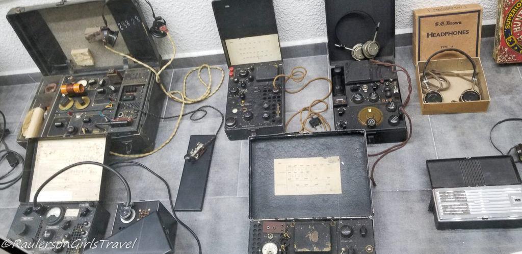 Old military radio displays