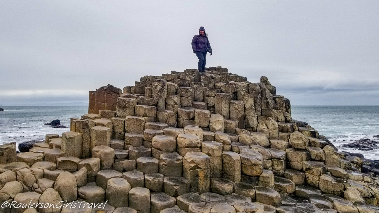 Heather at the Giants Causeway