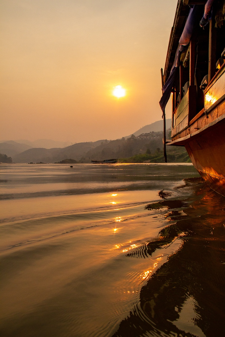 Slow Boat from Thailand to Laos on the Mekong River
