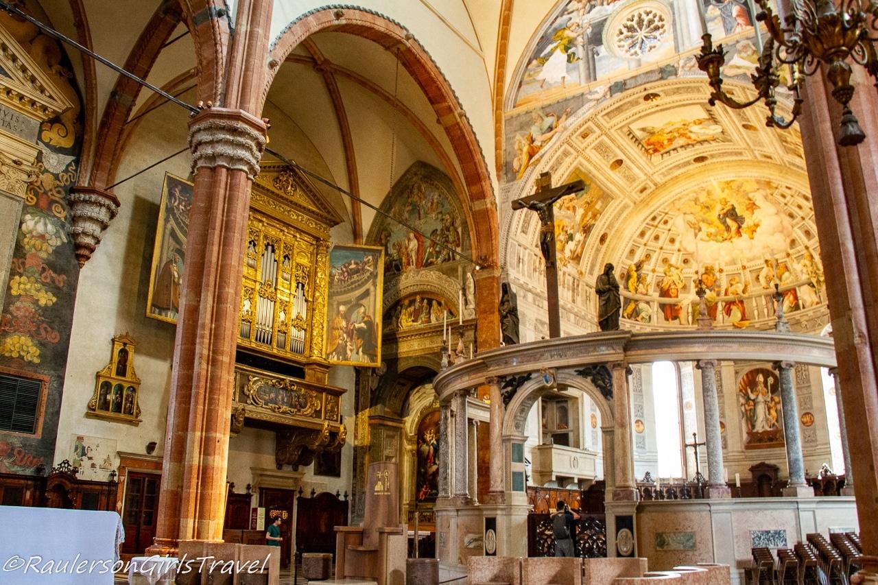 Inside the Duomo - things to do in Verona