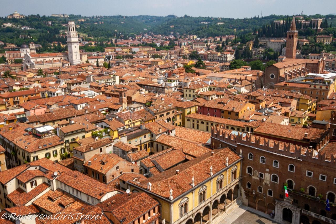 View of Verona from Torre dei Lamberti