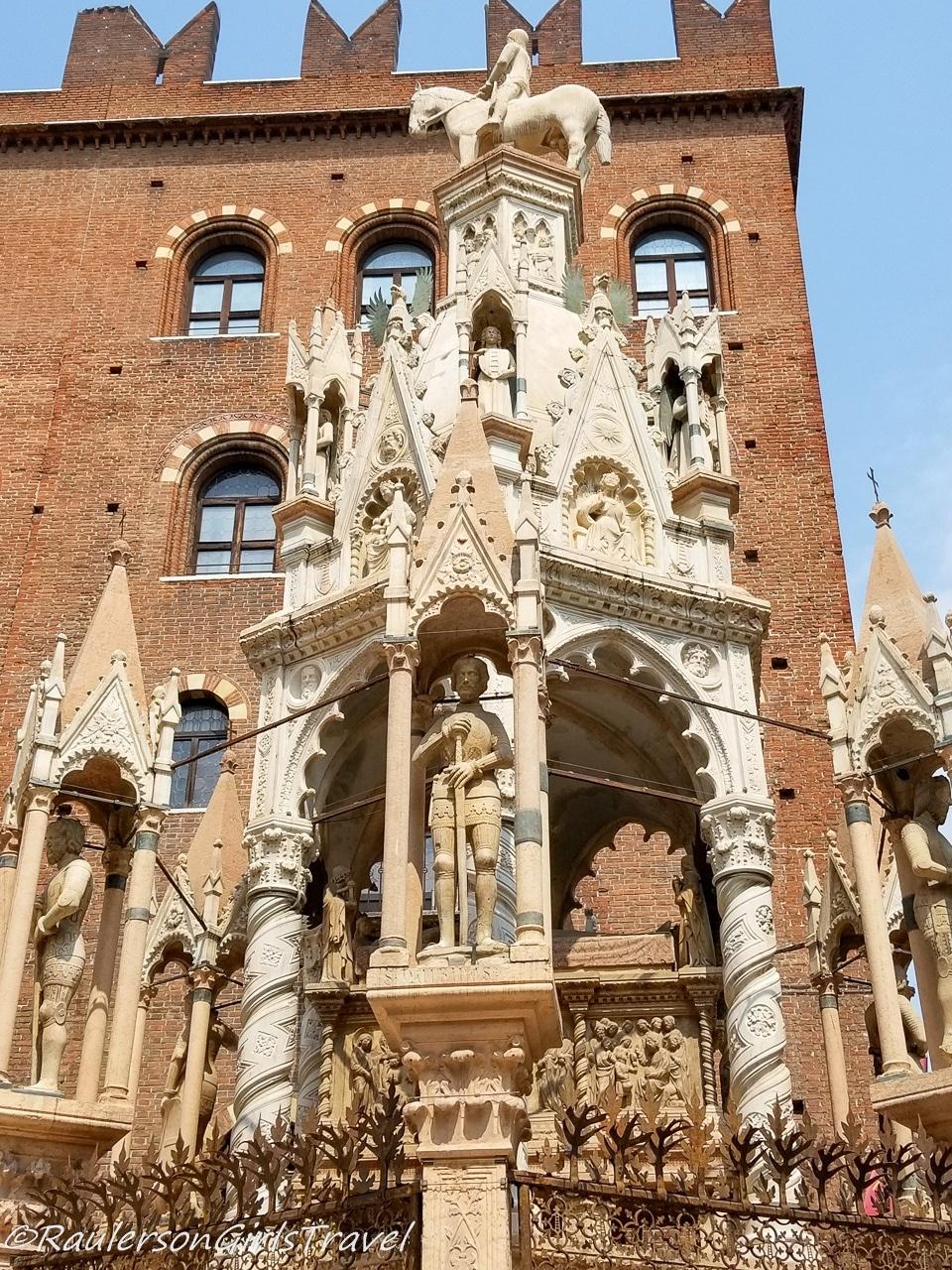 tomb of Cansignorio Mastino II in Verona