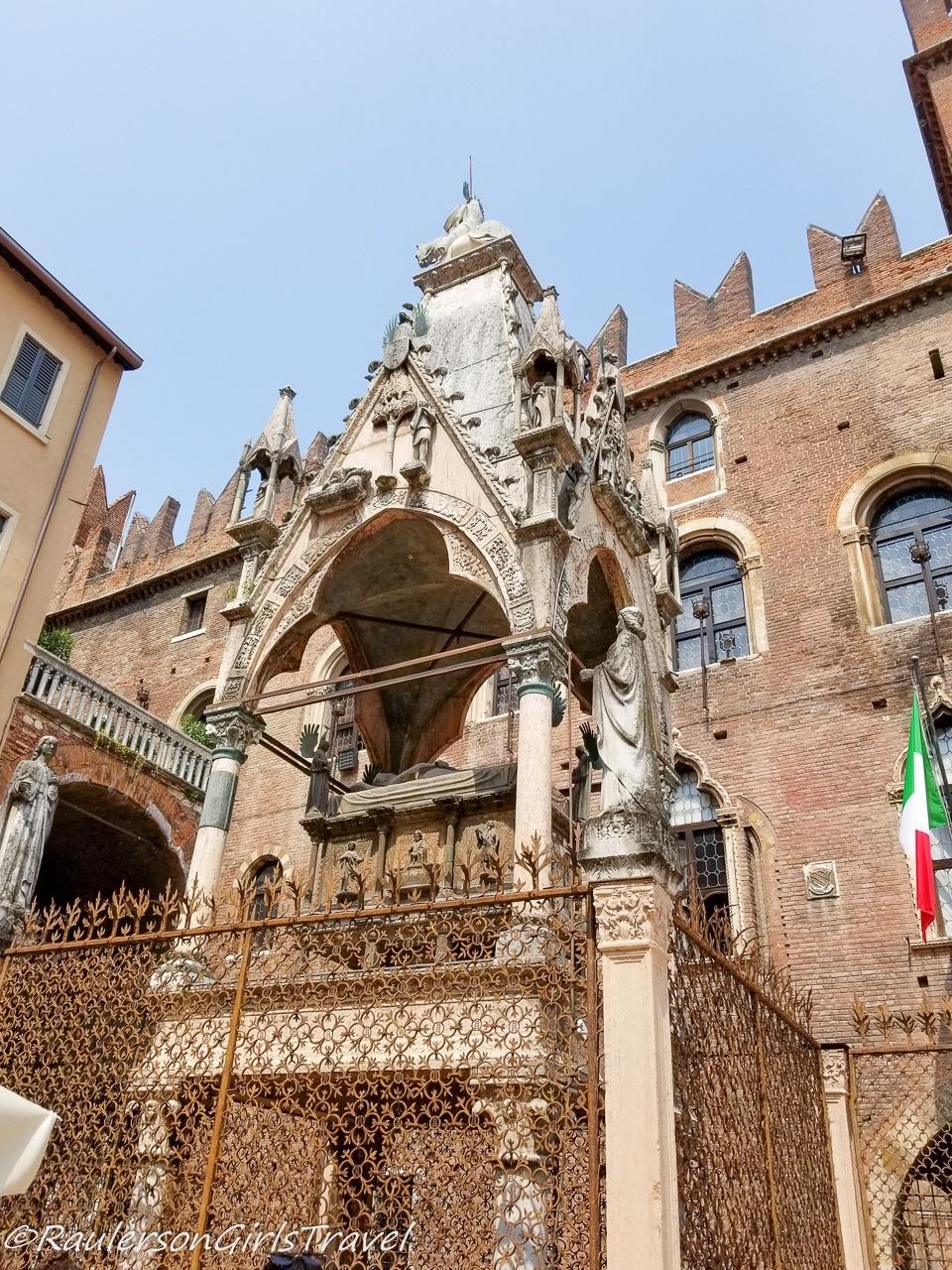 tomb of Cansignorio Mastino III in Verona