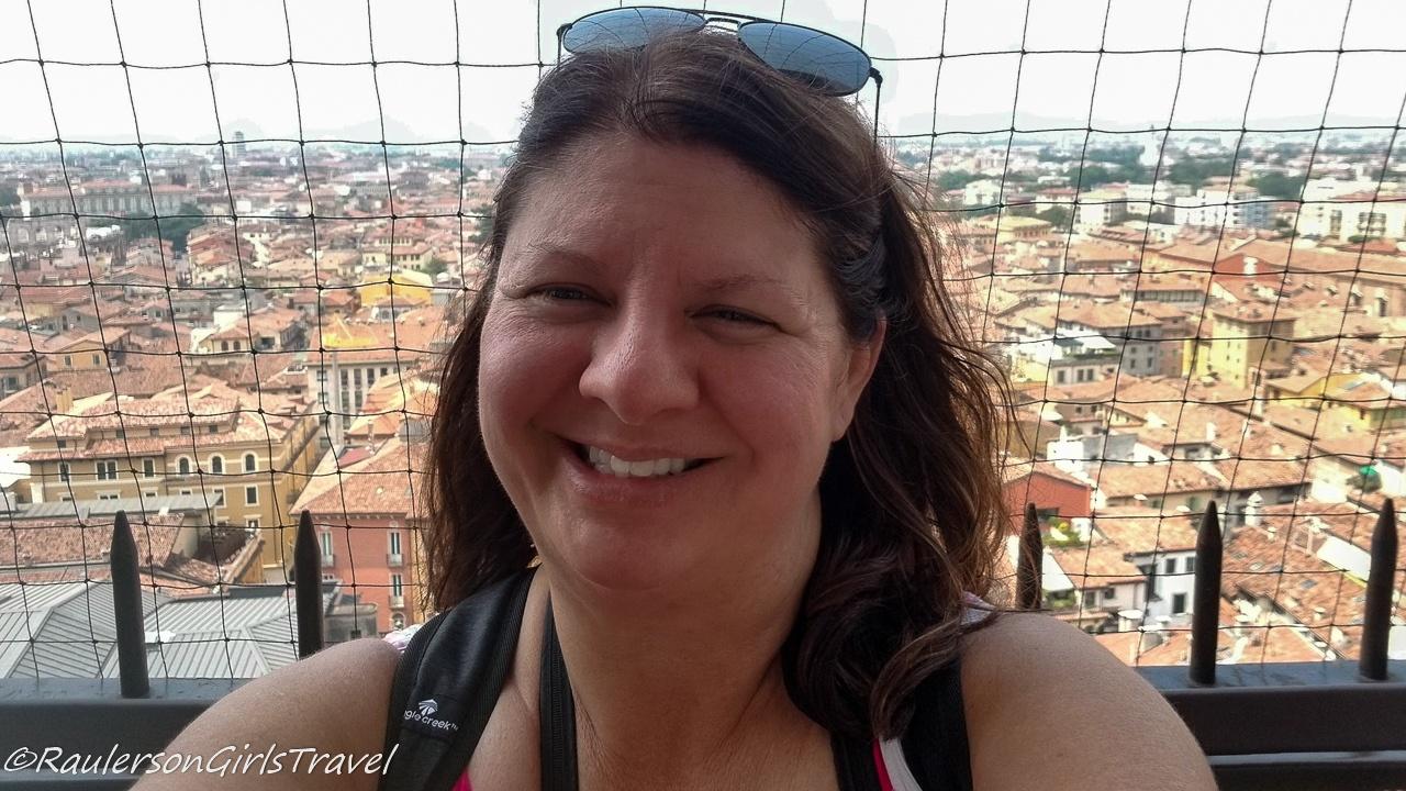Heather in the Torre dei Lamberti