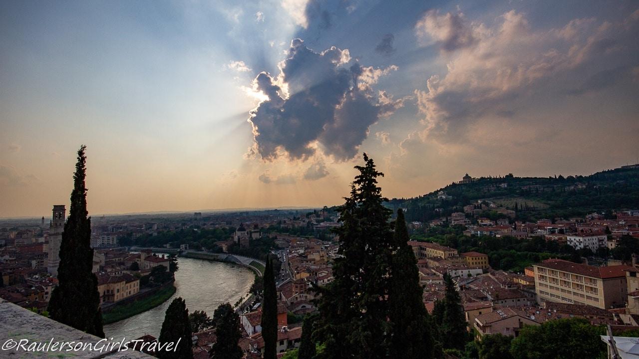 View of Verona from Castel San Petro