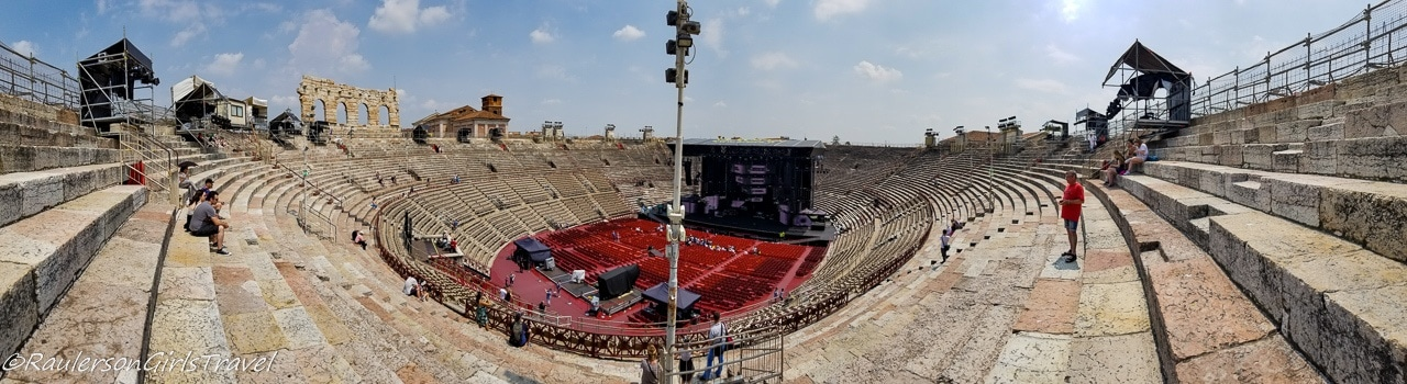 Panoramic View of the Inside the Amphitheater Arena