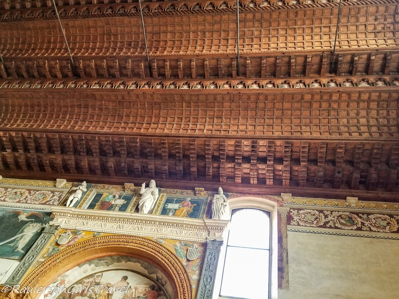 Wooden Ceiling at the Church of St. Fermo