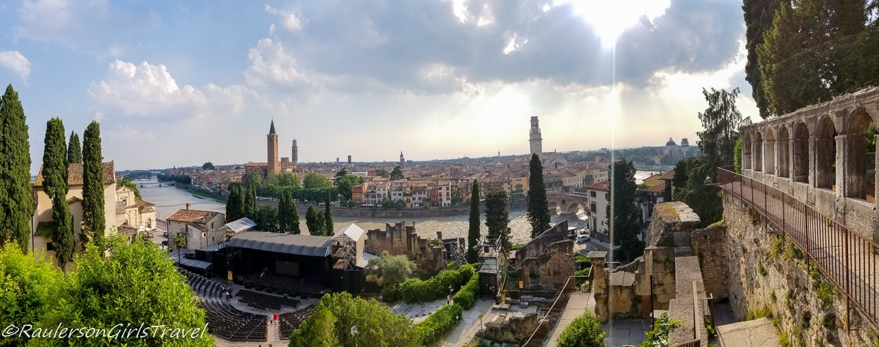 View of Verona from the Archaeological Museum at the Roman Theater