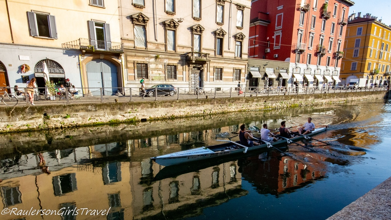 Reflection of Rowers in a Shell in Milan
