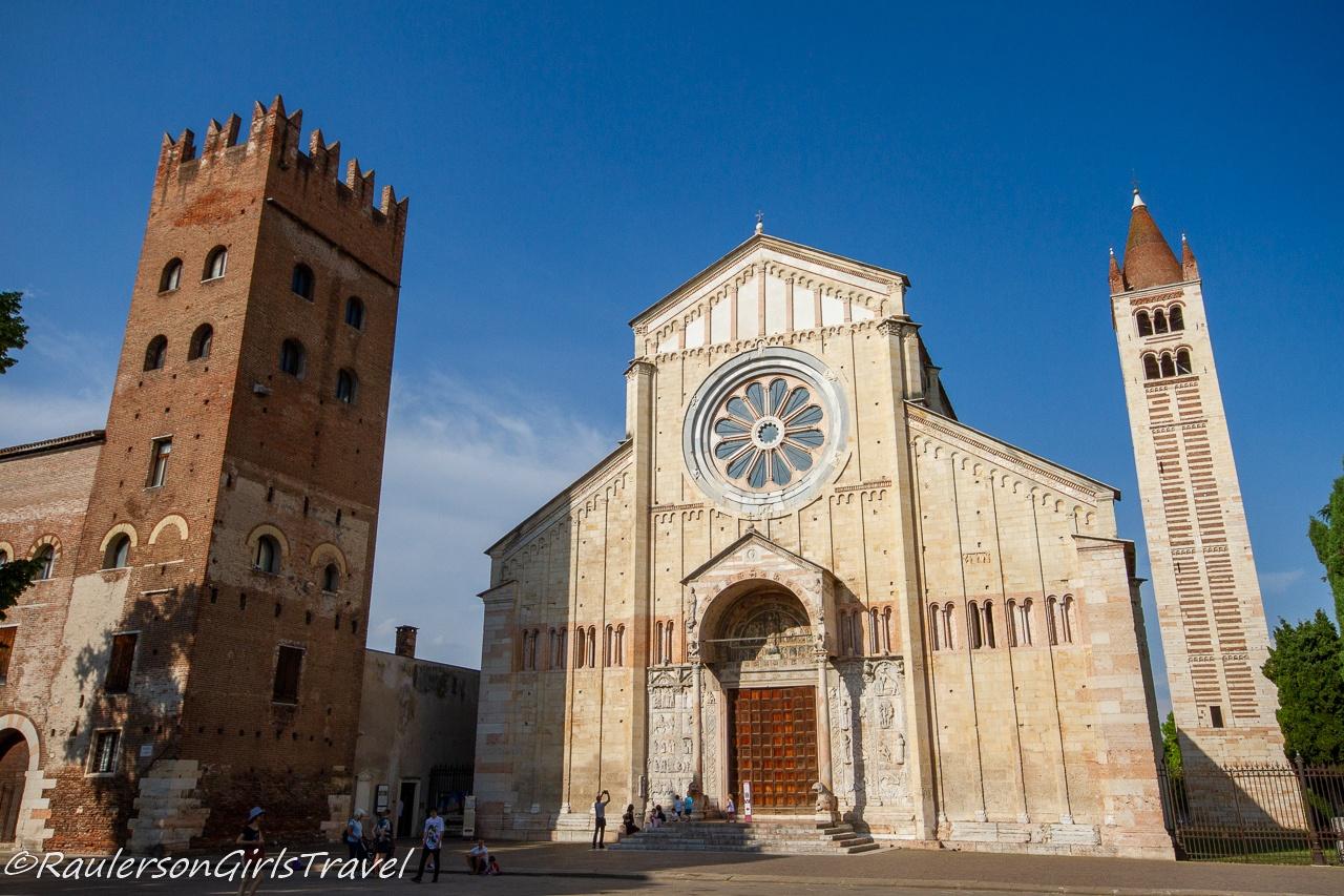Outside the Basilica di San Zeno