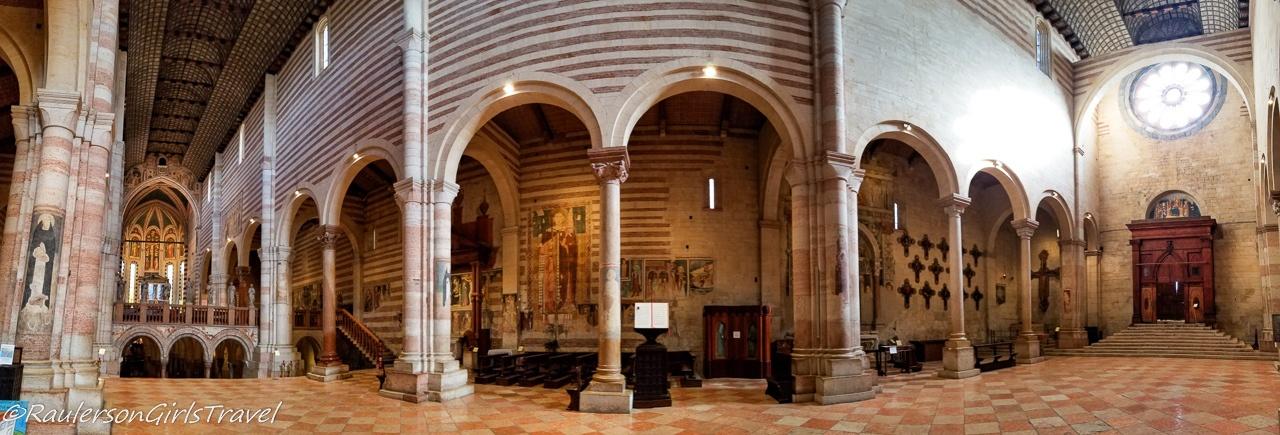 Inside the Basilica di San Zeno