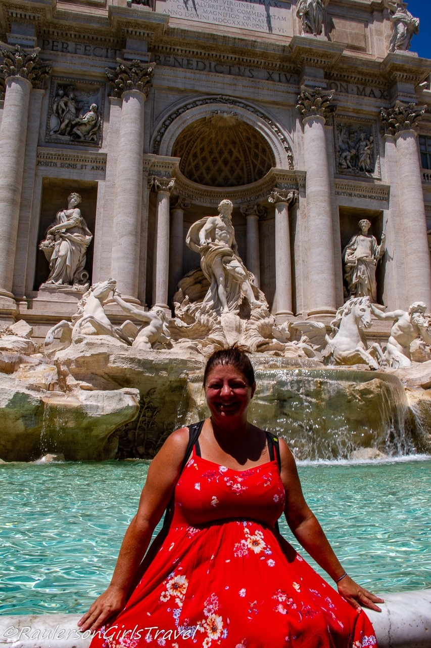 Heather at Trevi Fountain in Rome, Italy