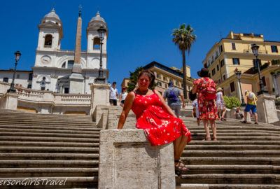 Heather at the Spanish Steps in Rome