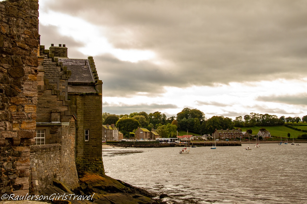 Scottish countryside by the River Forth