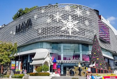 Maya Mall in Chiang Mai, Thailand decorated for Christmas