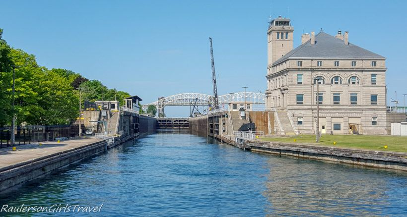 Front View of the American Soo Locks