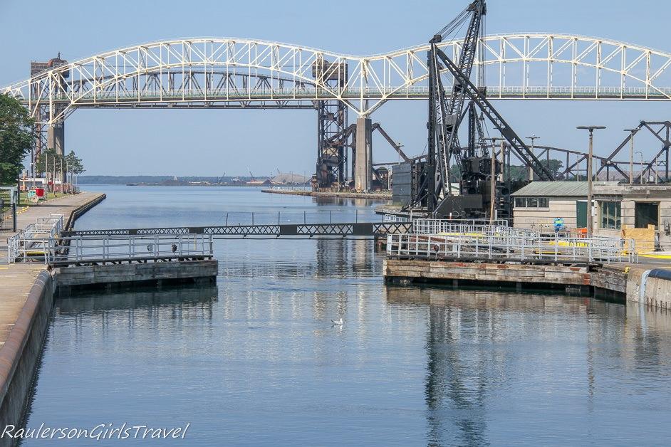 American Soo Locks Opening to Lake Superior