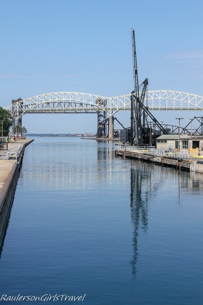 Soo Locks view to Lake Superior