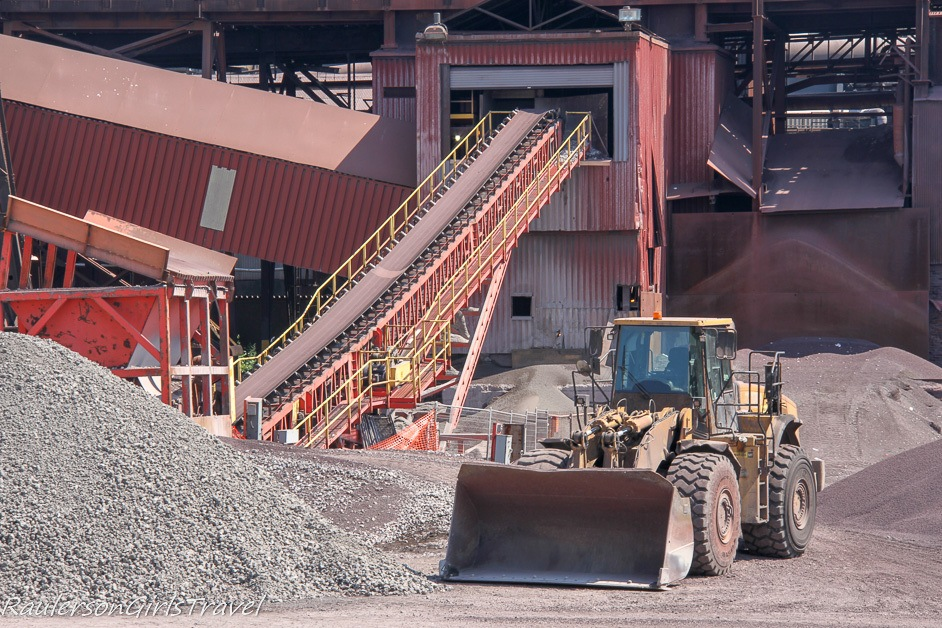 Conveyor and Bulldozer at Algoma Steel Inc.