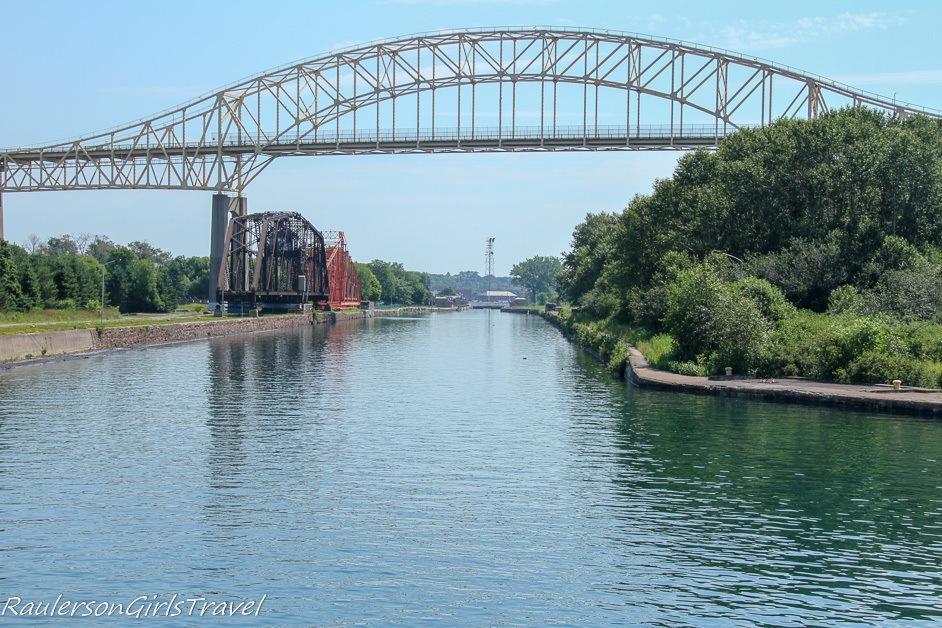 Entering the Canadian Soo Locks
