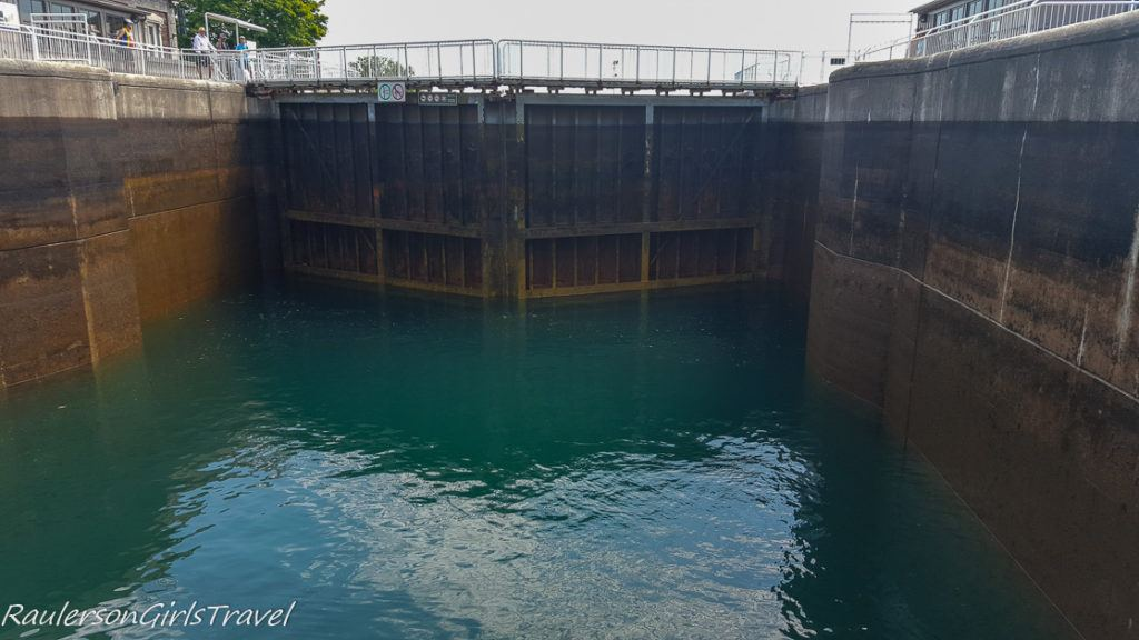 Water Going Down Inside the Canadian Soo Locks