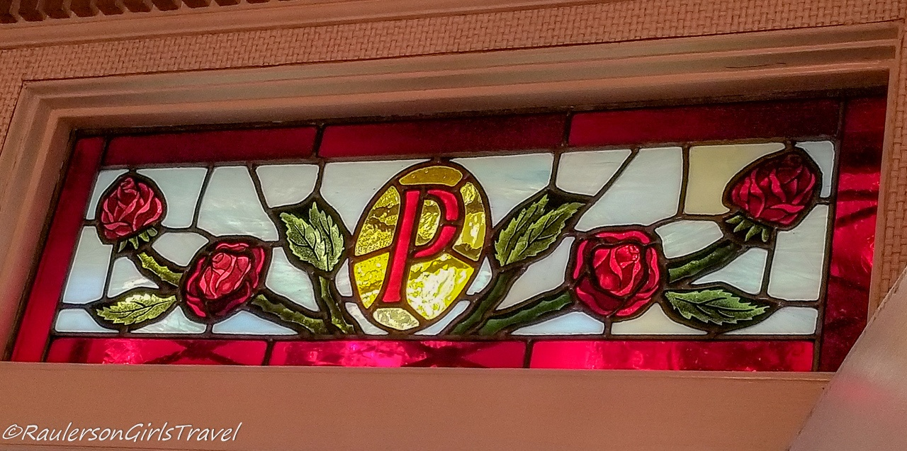 Presley Roses above Graceland Front Door