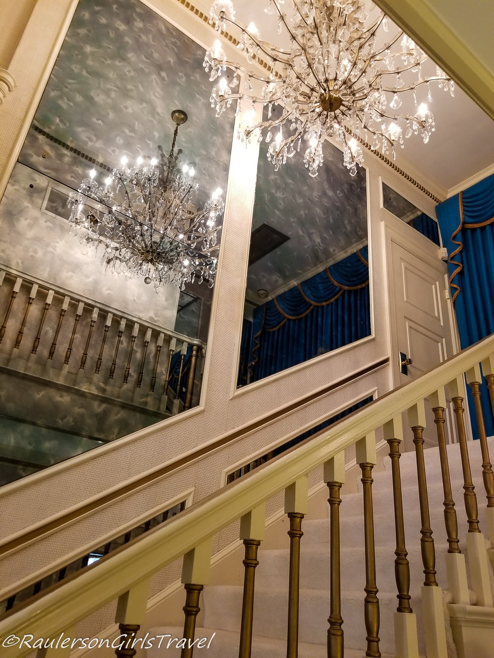 Chandelier and Staircase at Graceland