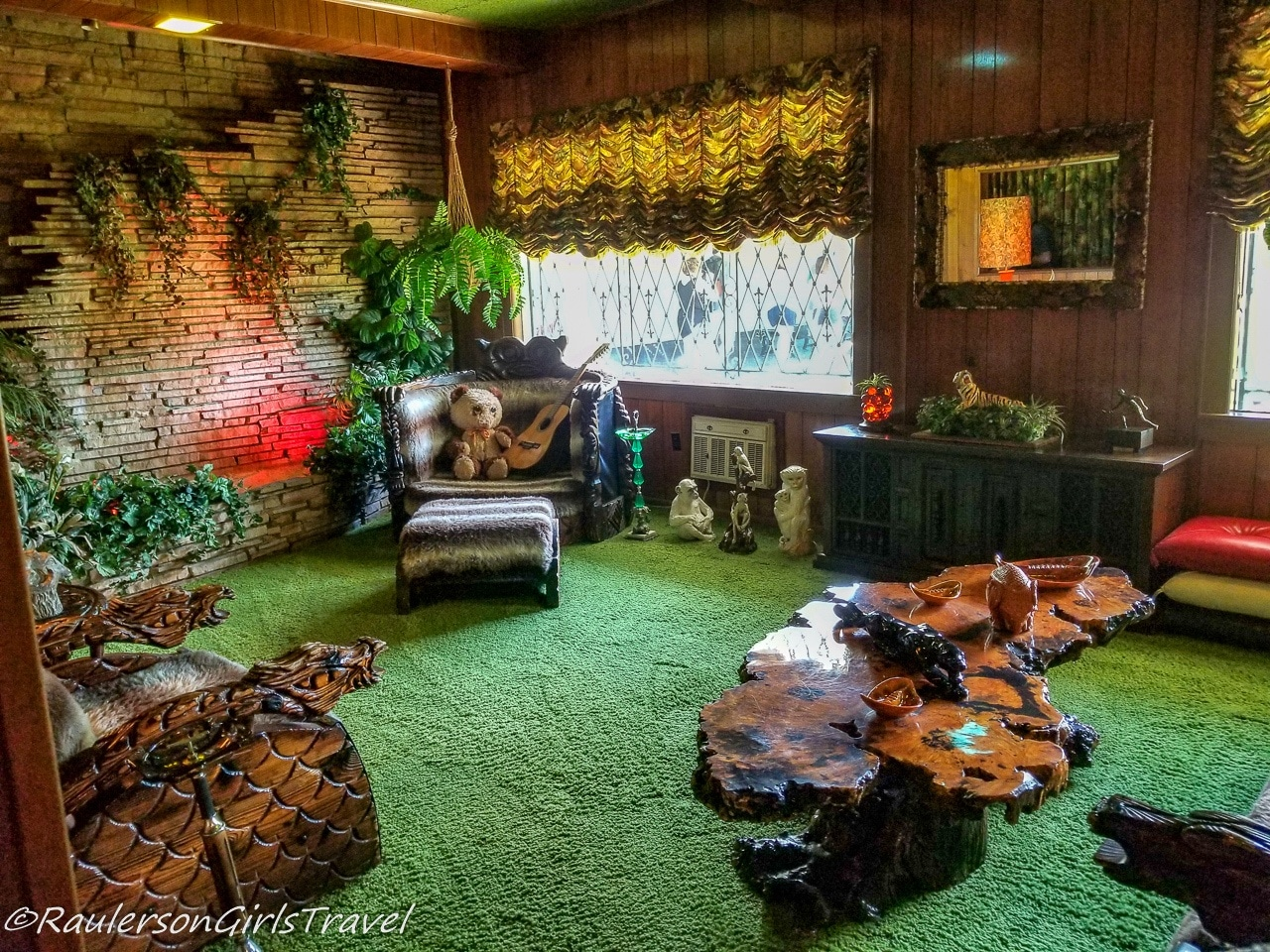 Jungle Room with teddy bear and guitar