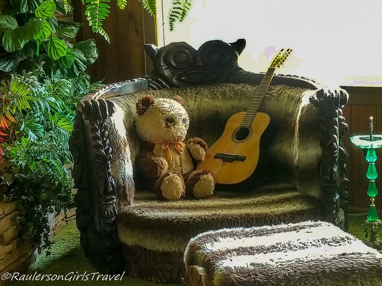 Teddy Bear and Guitar in the Jungle Room