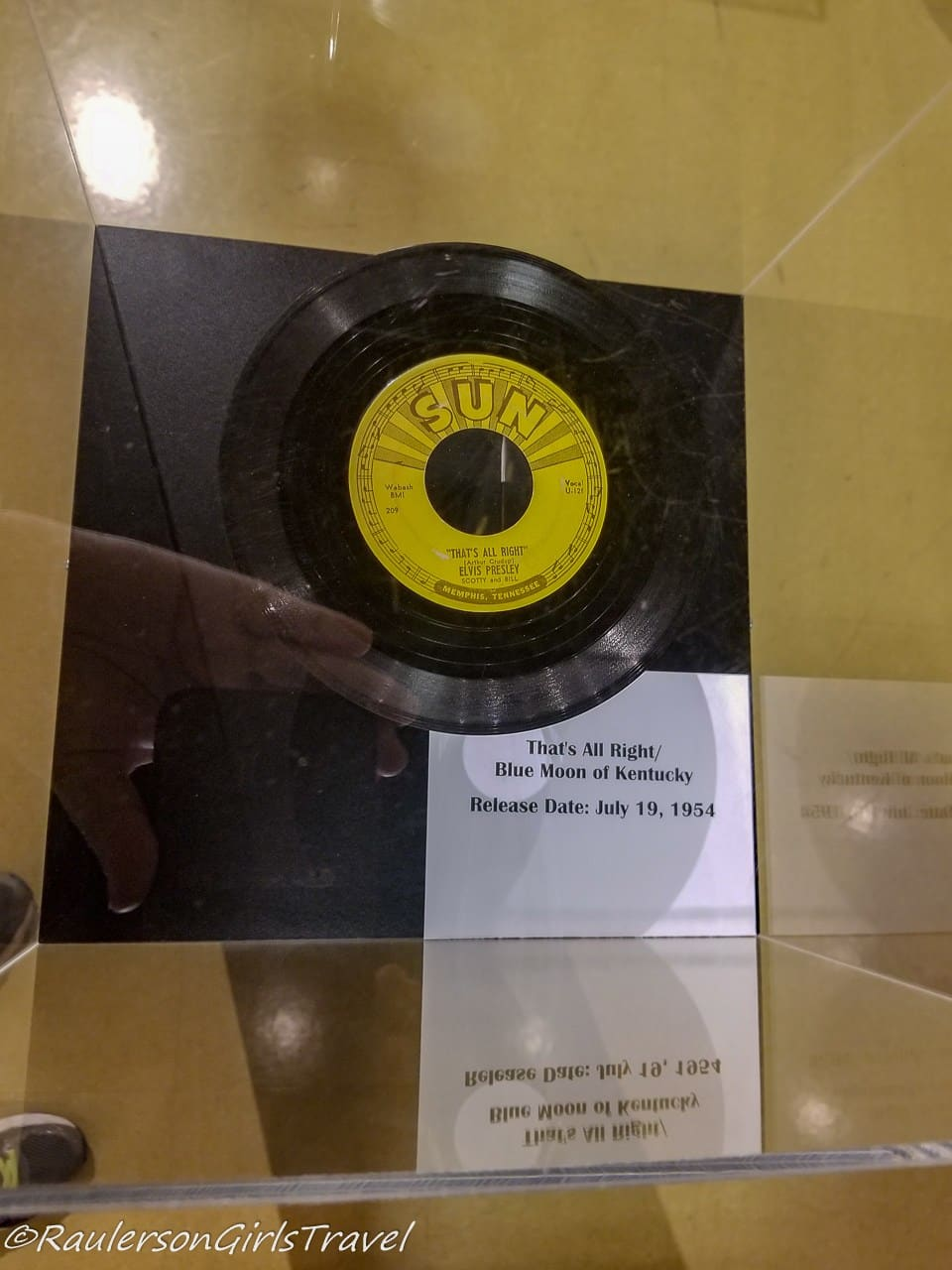 Elvis' First Record at Sun Studios