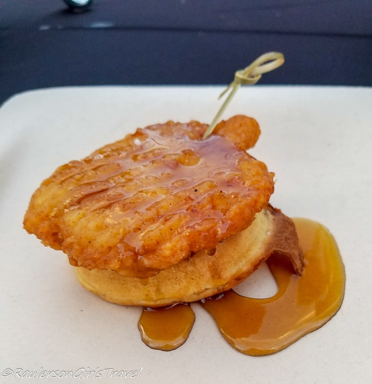 Chicken and Waffles at the Peabody Hotel Rooftop
