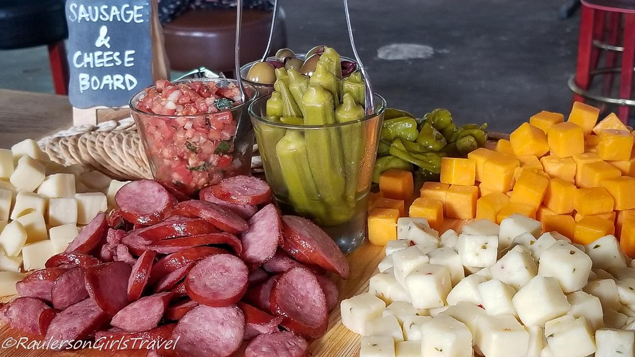 Sausage & Cheese Board at Loflin Yard