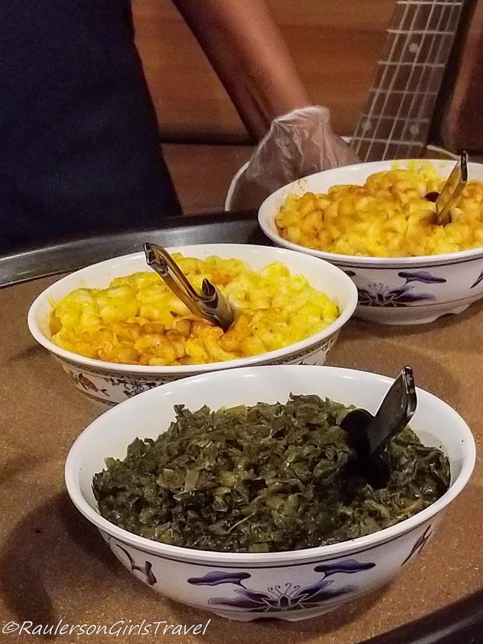 Mac and Cheese and Collard Greens at Central BBQ