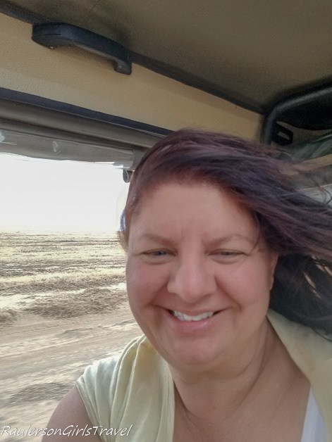 Heather in Africa on a Jeep Safari tour