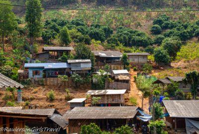 Akha Tribe - Houses on the mountain