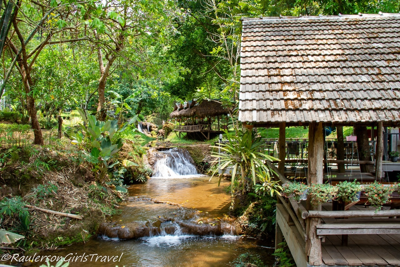 Waterfalls in Long Neck Tribe Village - Thailand Tribes