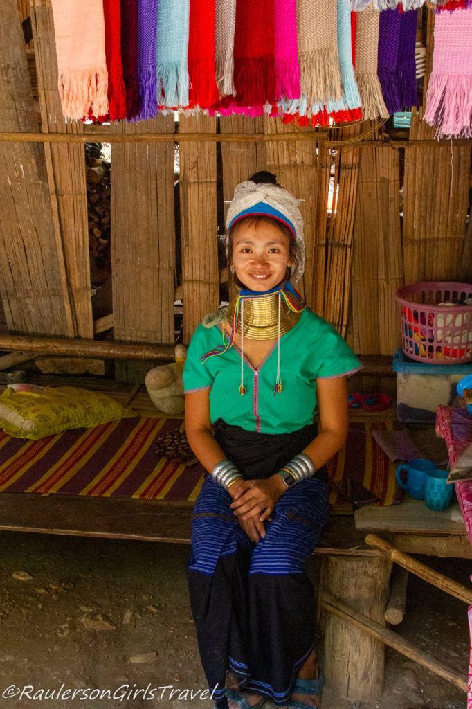 Smiling Long Neck Tribe Kayan Woman