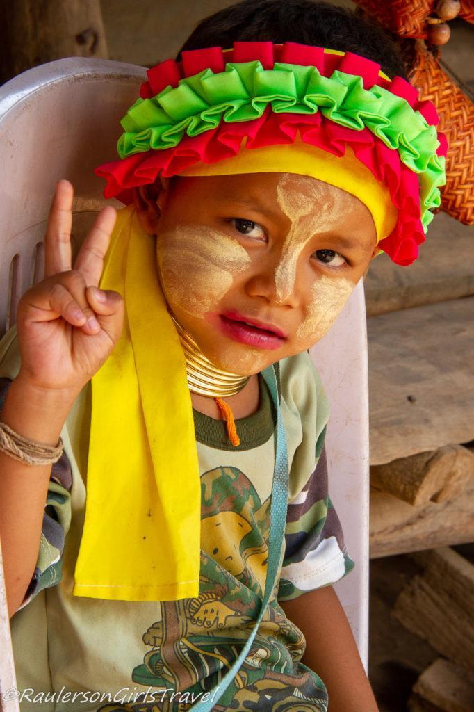 Little boy in Long Neck Tribe