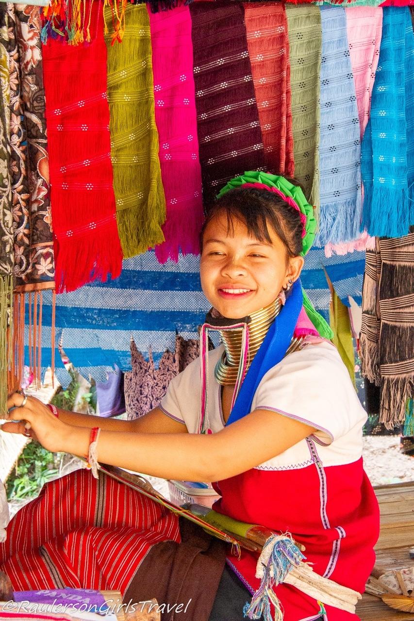 Smiling Kayan lady