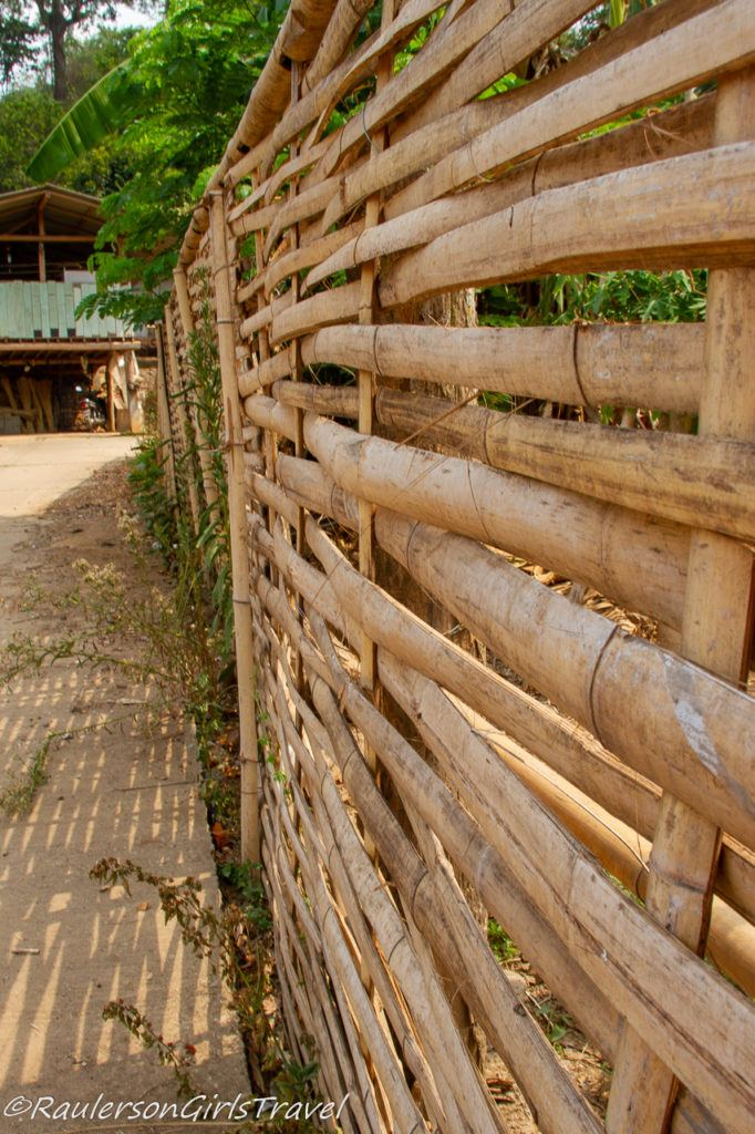 Wood Fence in Karen Tribe