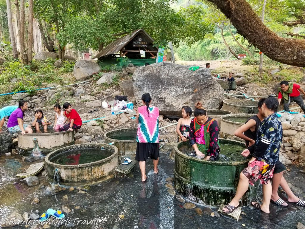 Hot Springs at the Karen Tribe - Thailand Tribes