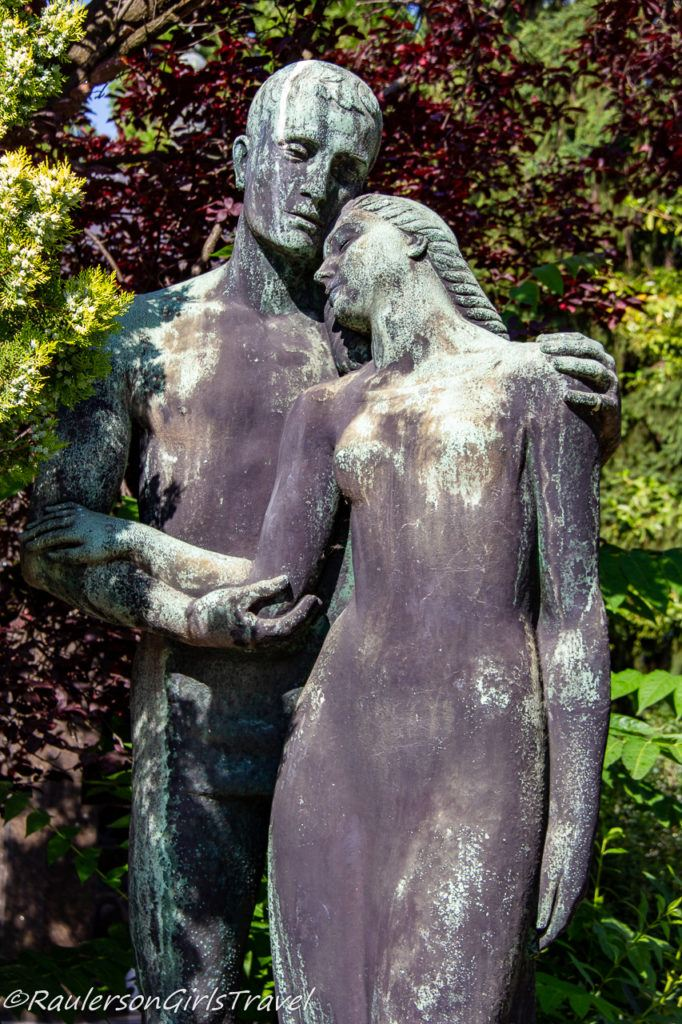 Man holding wife