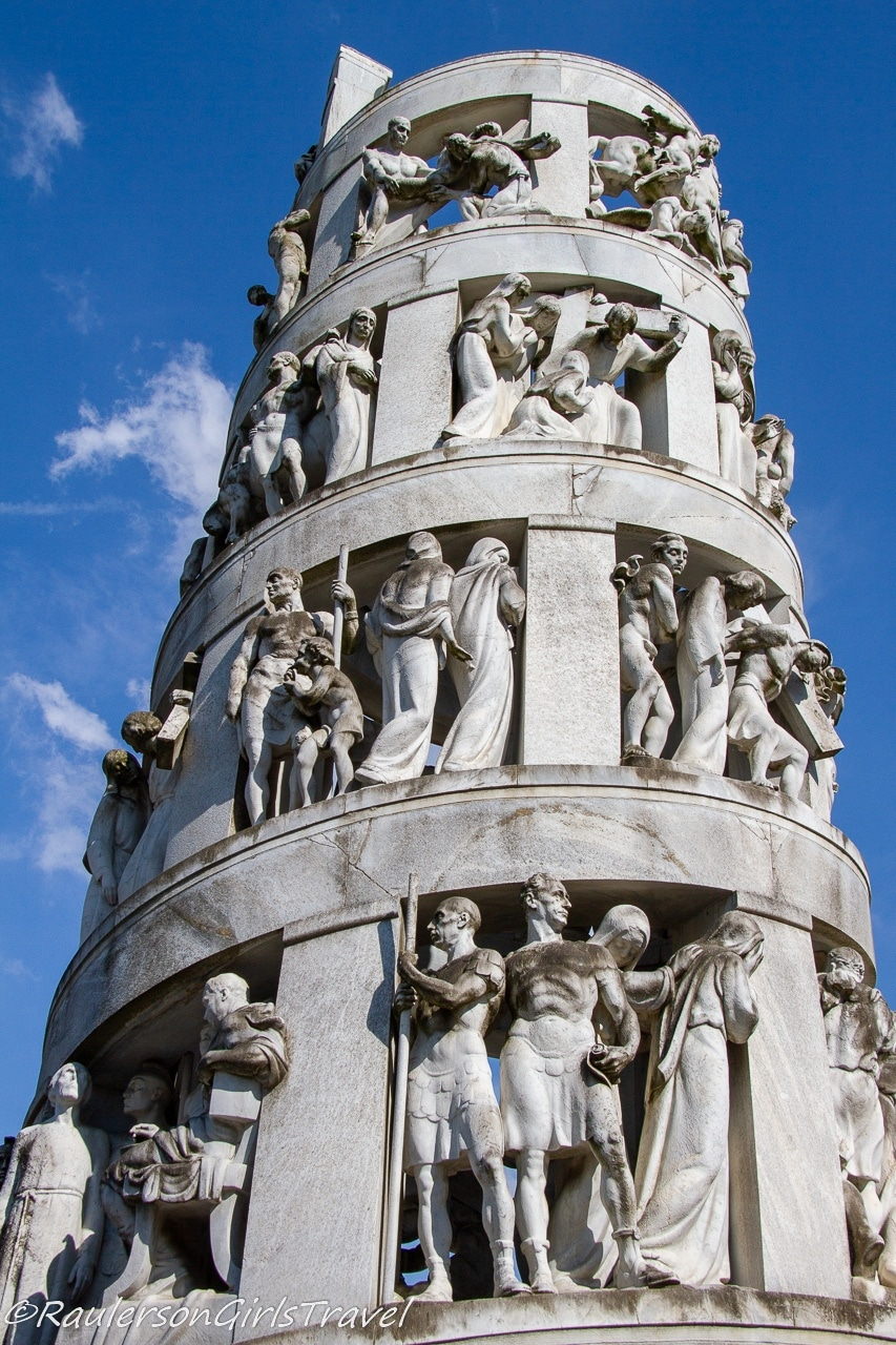 Top of Bernocchi Mausoleum
