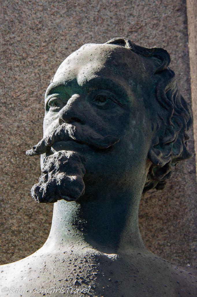 Bust of a Mustache Man