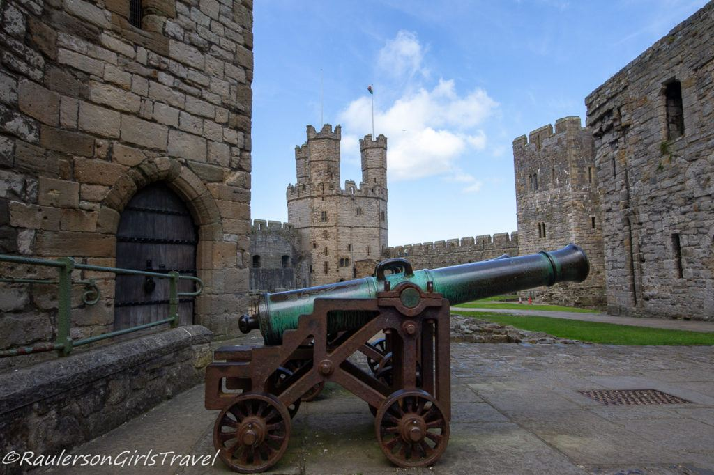 Cannon in Caernarfon Castle