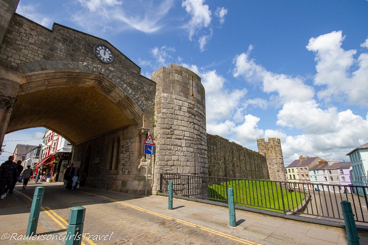Gate on the Walls surrounding Caernarfon