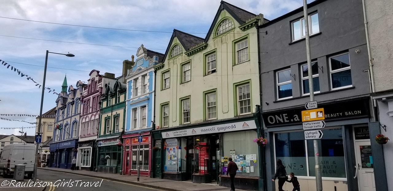 Colorful buildings in Caernarfon